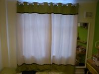 Green Set of Curtains - Eyelet style