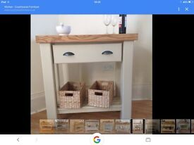 Butchers block style kitchen /island table