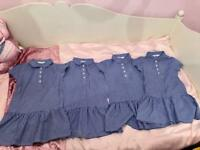4 school summer dresses age 5-6 years