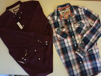 Pair of Mens Shirts - one River Island shirt never worn one Superdry shirt hardly worn