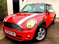 **..£20 TAX..** 2009 MINI COOPER D RED 1.6 TURBO DIESEL 3 DOOR HATCH WHITE