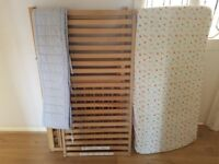 Used Ikea Cot Bed with mattress and side protectors dismantled and ready to picked up for free