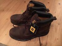 CAT steel toe capped boots - brown size 11
