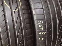 Used tyres / 245/45/18 x 2 Bridgestone/ from £ 65.. 5mm+