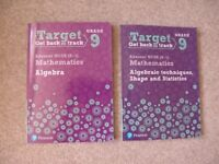 Pearson NEW GCSE Maths Target 9 Workbook BUNDLE Algebra & Algebraic Techniques, Shape, Statistics