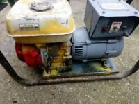 Honda petrol generator Stephill 2.2 KVA 240/110v good working order