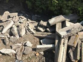 Rubble and slabs