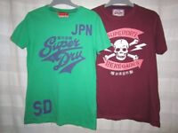 two Superdry men's T-shirts