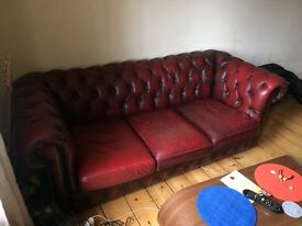 Chesterfield sofa - oxblood