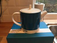 Pantone Bone China Tea Pot - Printers Blue 7461