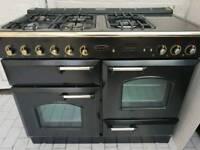 Rangemaster Classic 110 Dual Fuel Cooker in Black 110CM