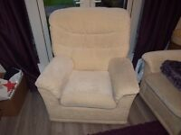 G-Plan two seater settee (x2 with power recliners) and an armchair