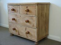 Victorian Antique Pine Chest of Drawers. 4 drawers. Rustic. Country Cottage. Beautiful piece.