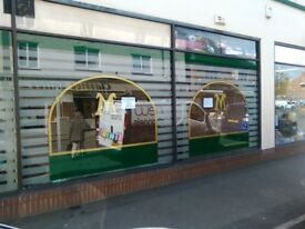 SECURE SHOP DOUBLE WINDOW UNIT TO RENT IN (shopping centre)leicestershire