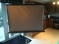 Silvered de luxe pull up screen