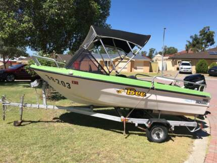 Monark Squire 3.6mt Runabout boat 25hp Mercury  outboard & trailer