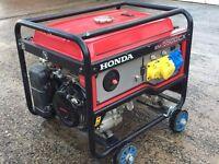 Honda generator model EM5500CX 5KVA used for no more than a few days