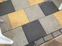 Newgrange Paving Stones Black Granite Composite 400 x 400 x 50mm