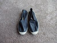Black 'Office' leather espadrilles – size 6 ½ - 40
