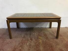Teak framed tilled topped coffee table