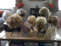 A large selection of ladies wigs