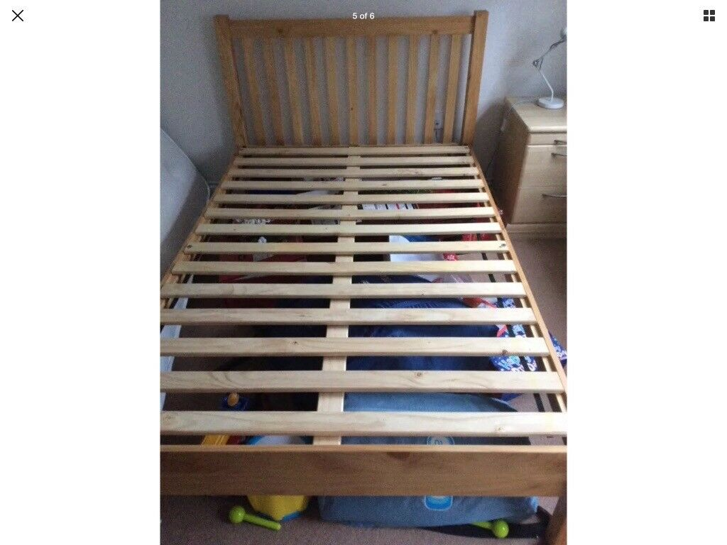 John Lewis wooden bed frame double bed not including mattress frame ...