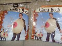 NOVELTY PAIR OF GIANT BOOB DRESSING UP COSTUMES - £10