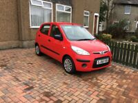 Red Hyundai i10 for private sale with 12 month MOT