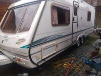 2003 Abbey Spectrum 4 berth, fixed bed, twin axle touring caravan