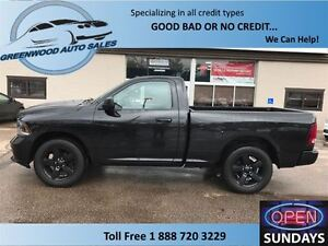 2015 Ram 1500 BLACK ON BLACK, CRUISE,AC.....FINANCE NOW!!!!!