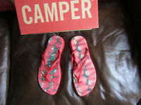 CAMPER SANDALS RED STRAWBERRY PATTERN NEW Size 40