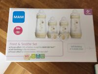 MAM Baby Bottle Feed and Soothe Set Brand new