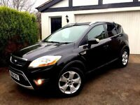 **.SAT NAV.** 2008 FORD KUGA ZETEC TDCI 2.0 DIESEL BLACK 5 DOOR MANUAL 4X4 TOW BAR