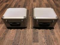 2 x CD / DJ flight Cases inc CDs