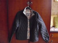 Black quilted Burberry ( no authentication ) small jacket type black coat