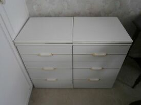 Pair of White Bedside Cabinets - £25