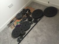 Job lot free weights and bars etc