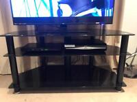 Large black glass tv stand **reduced**