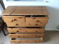 Good quality pine chest of drawers x2