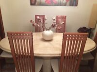 Onyx style dining table and chairs