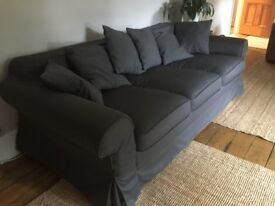 Grey 3 seater sofa bed