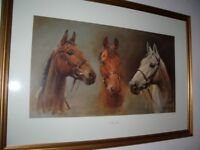 framed horse picture
