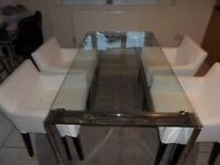 Dining table (Next) and chairs (Ikea) for sale