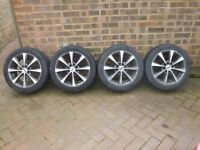 """Ford Fiesta 15 """" Alloys 2002/2008 Mark6 with tyres."""