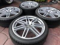 "19"" Audi A6 A4 Le Mans Style Alloy wheels New tyres - VW Golf Caddy Seat 5x112"