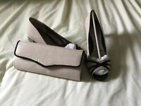Mother of the Bride. Matching Shoes and Bag. Size 7. Worn once. Excellent condition