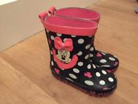 Size 6 Minnie Mouse wellies good used condition