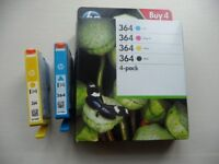 HP 364 Genuine Ink Cartidges (new, unopened box of all four colours)