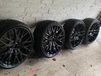 Genuine BMW 20 Inch Alloys and Pirelli Tyres.