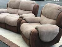 2 Seater Sofa and Chair (both Recliner) (@07752751518)
